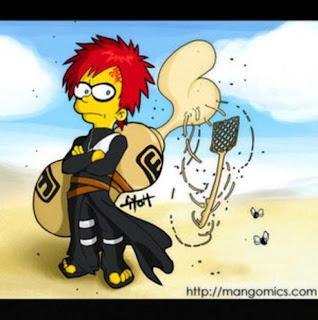 Bart Simpson al estilo Naruto