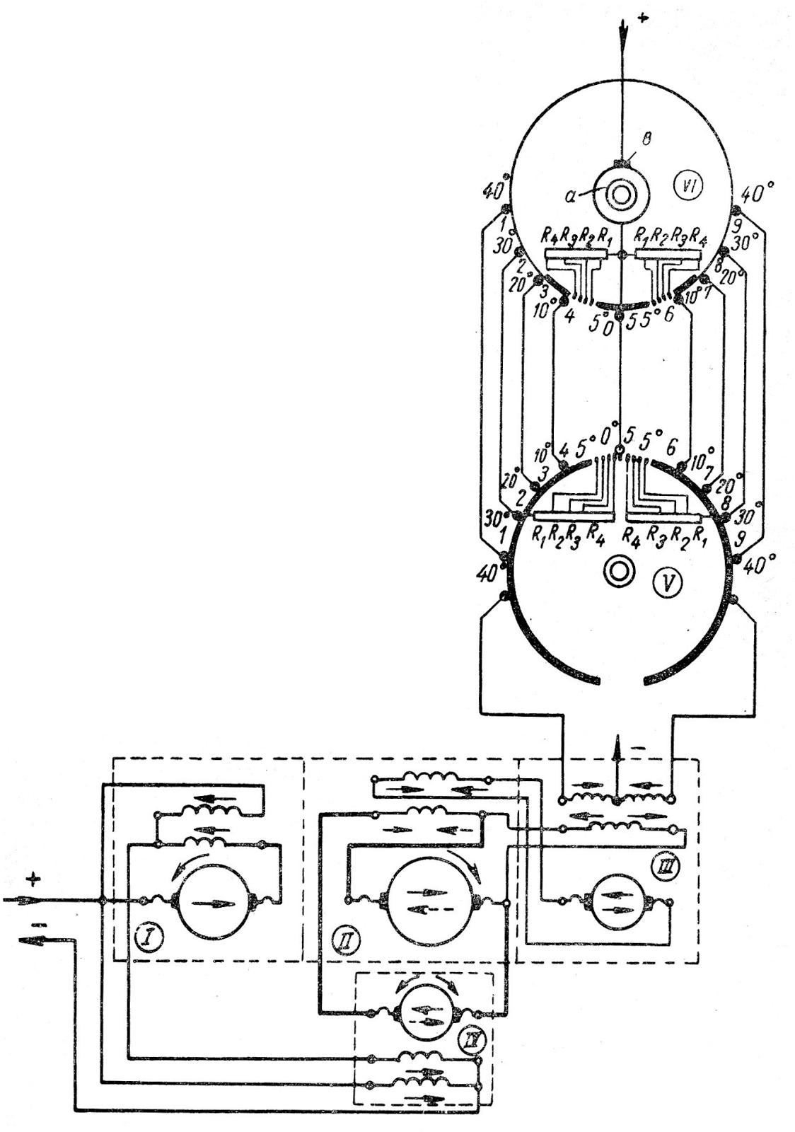Принципиальная схема рулевого электропривода следящего действия