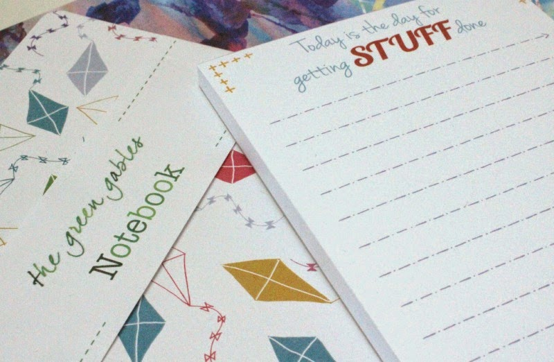The Green Gables notebook and to-do list pad