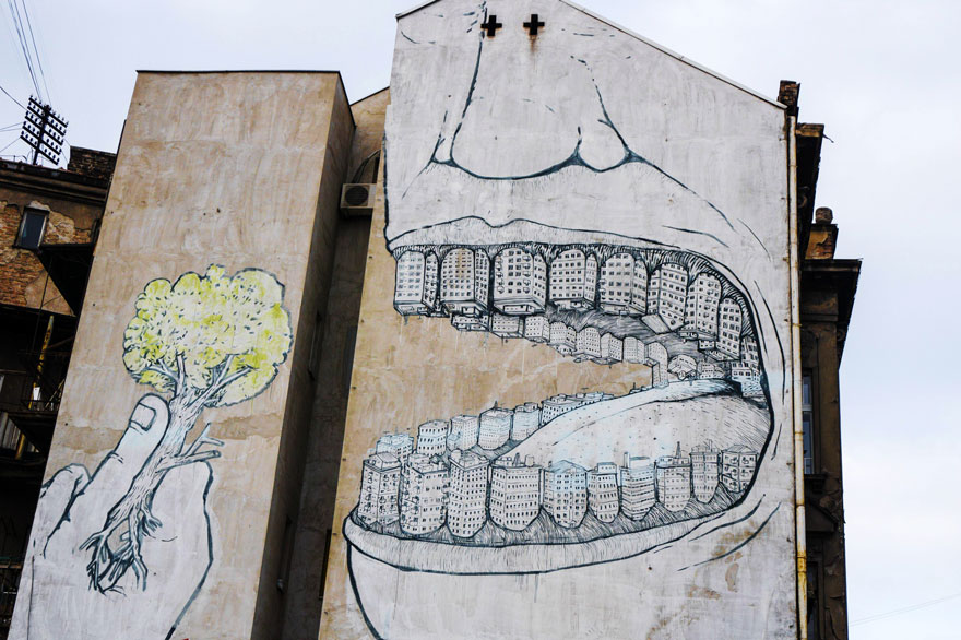 These 30+ Street Art Images Testify Uncomfortable Truths - Unsustainable Urbanization Is Killing The Planet