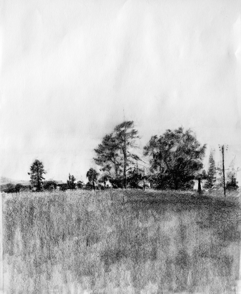 Landscape Drawings in Charcoal