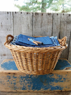 old toy laundry basket