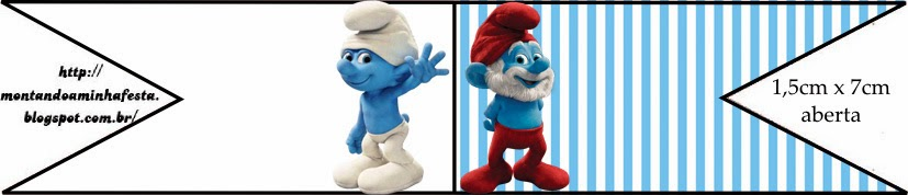 Free Smurfs Party Food Flags.