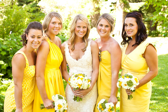 Yellow Summer Bridesmaid Dresses 75