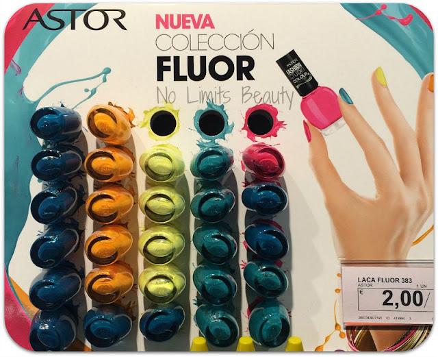Lacas de uñas colección Fluor - Astor