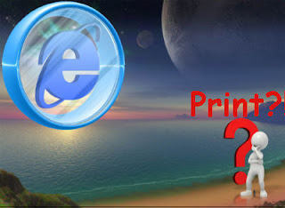 Internet Explorer Support Set IE To Not Print Web Site