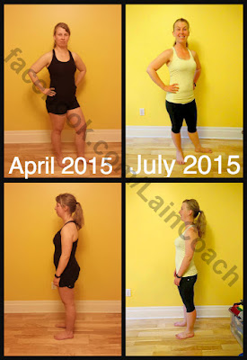 Before and after 60 days of PiYo with Chalene Johnson