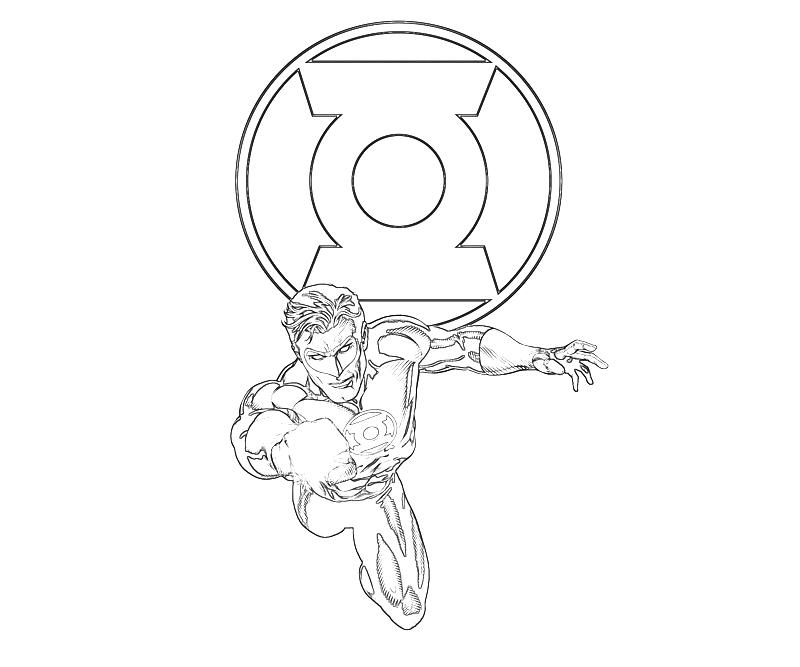 Green Lantern Coloring Pages Labels: green lantern
