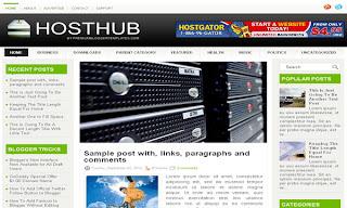 HostHub Blogger Template