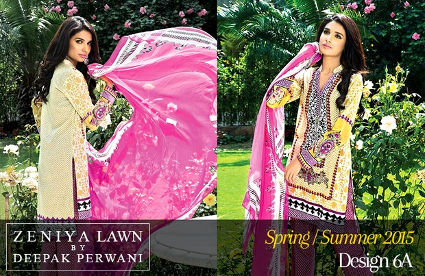 Zeniya Lawn By Deepak Perwani S/S 2015 Magazine