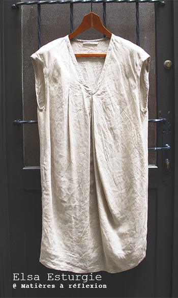 soldes Vêtements oversize robe Elsa Esturgie lin soie Made in France