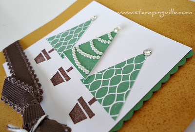 Christmas Trees with Pennant Parade Stamp Set by Stampin' Up!