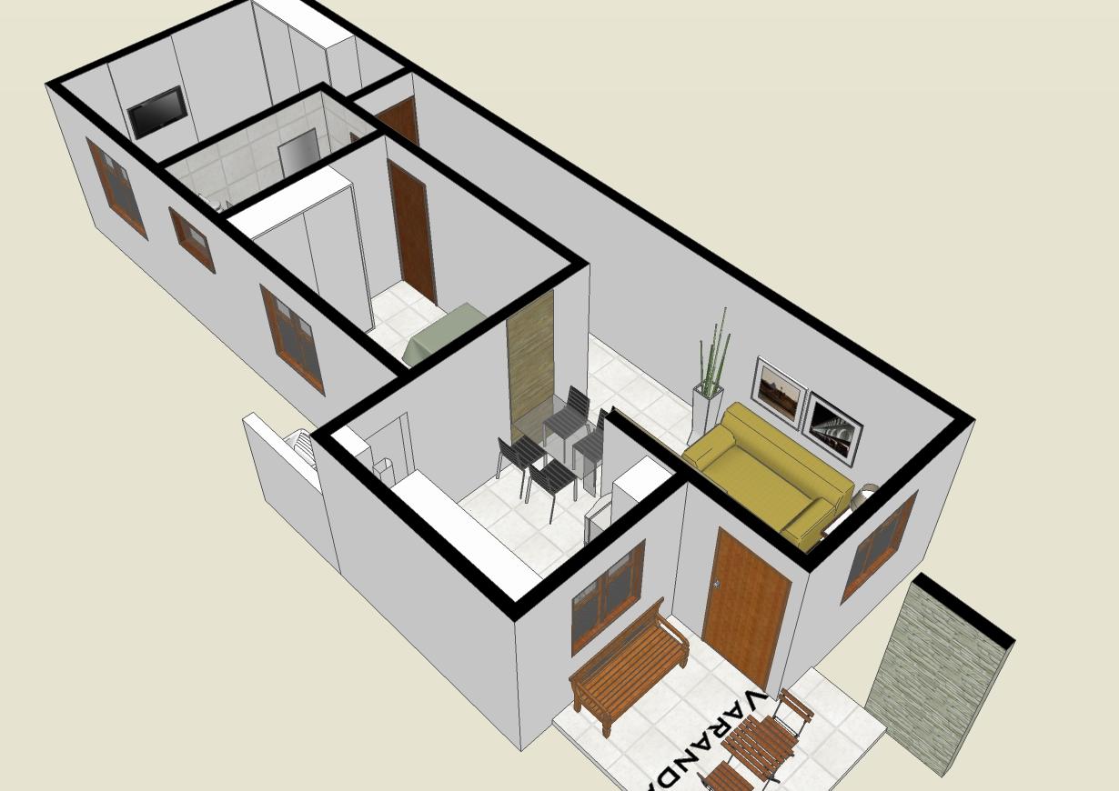 Quartos terreno 5m de frente 10 x R$ 9 90 Clique Projetos #968435 1230 870