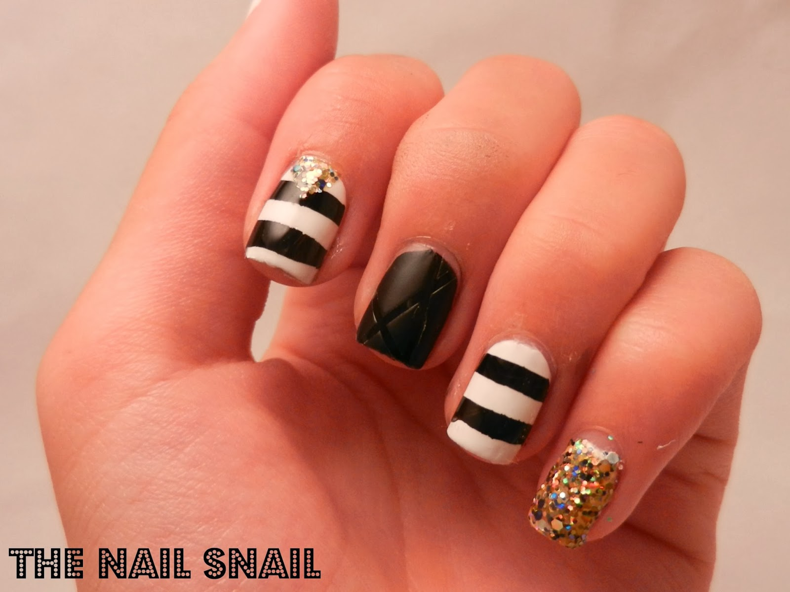 The nail snail black and white skittlette prinsesfo Image collections