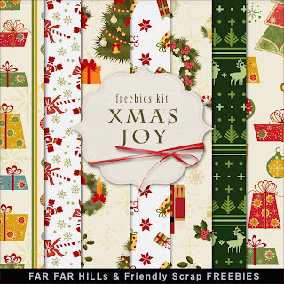 Freebies Christmas Paper Kit