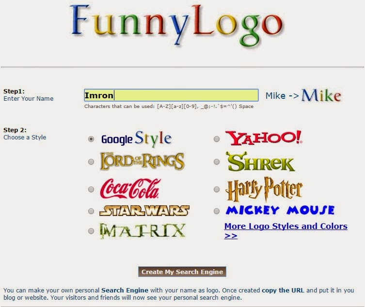 Cara mengganti tulisan google dengan nama sendiri