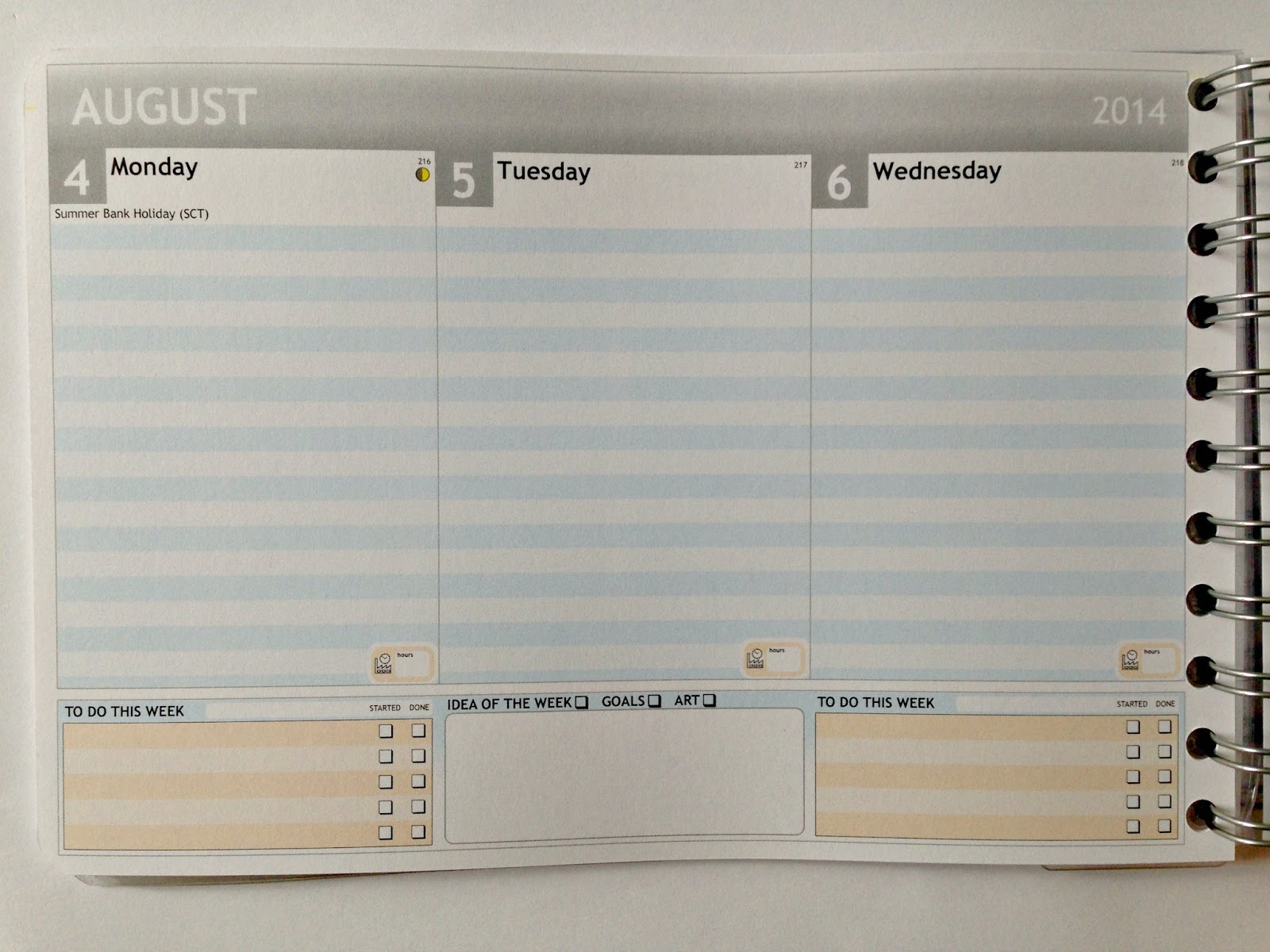 Personal Planner UK Review Inlay