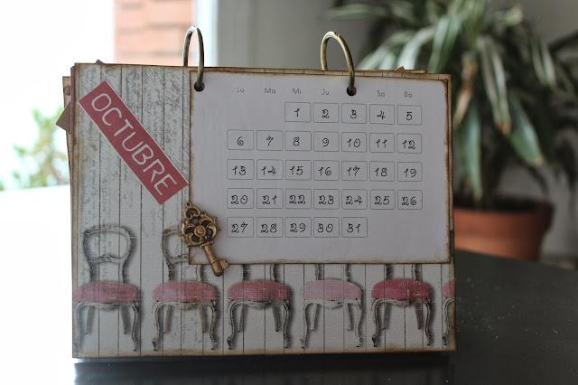 Calendario scrapbooking octubre