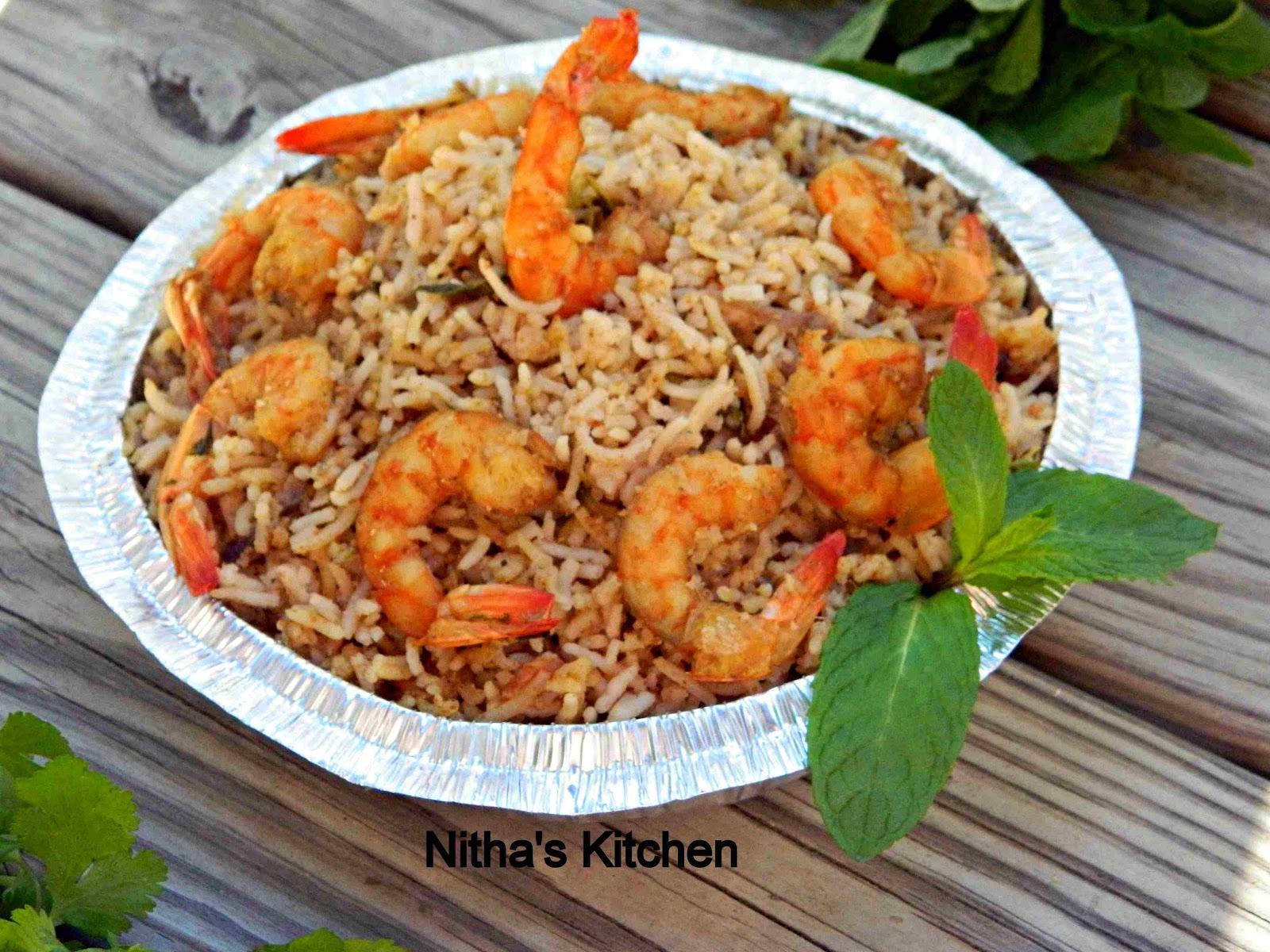 Nitha Kitchen: Shrimp Biryani | Biriyani with Homemade Masala Powder