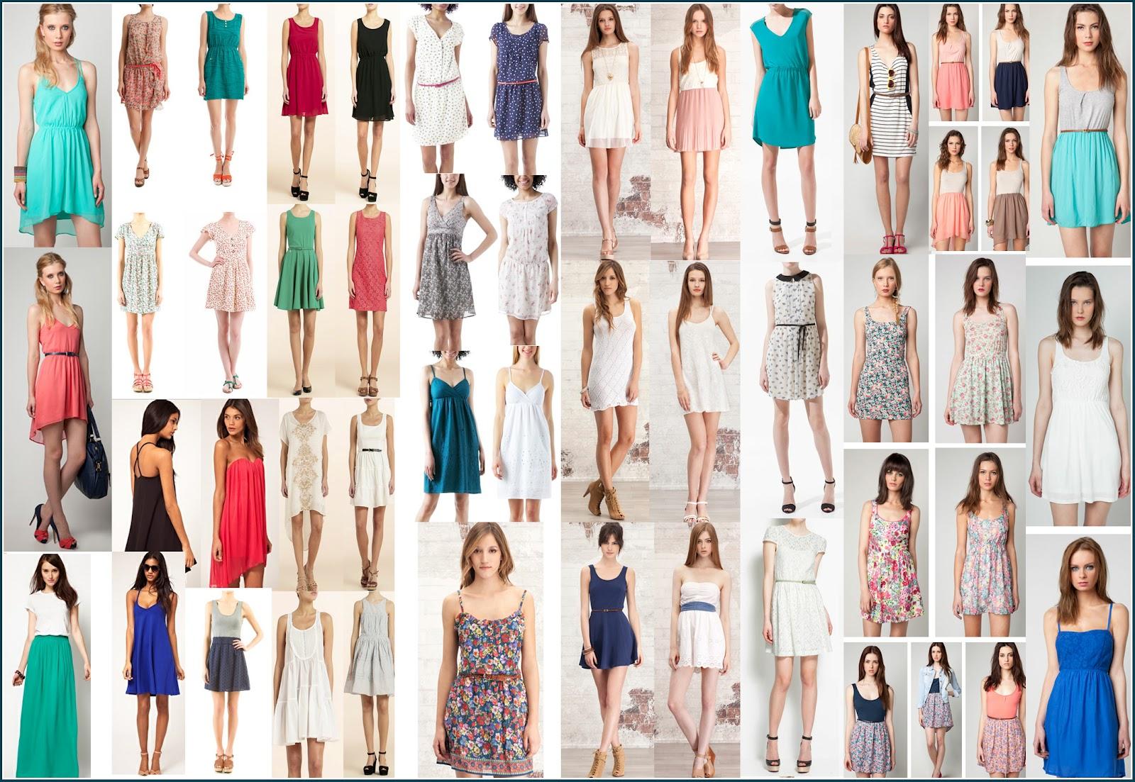 vestidos en mi primera entrada os dejo diferentes tipos de vestidos
