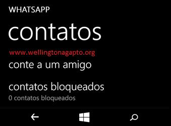 Como bloquear contatos do whatsapp no windows phone