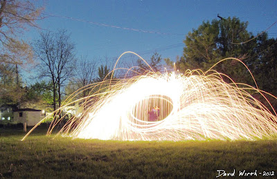 spinning wool photography night exposure camera setting video