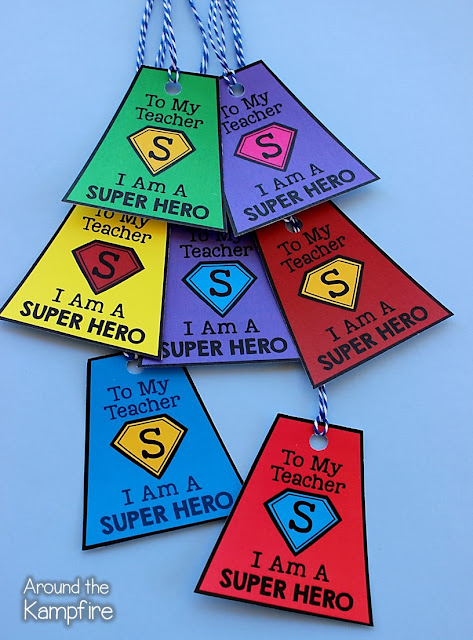 Super Hero brag tag student gifts