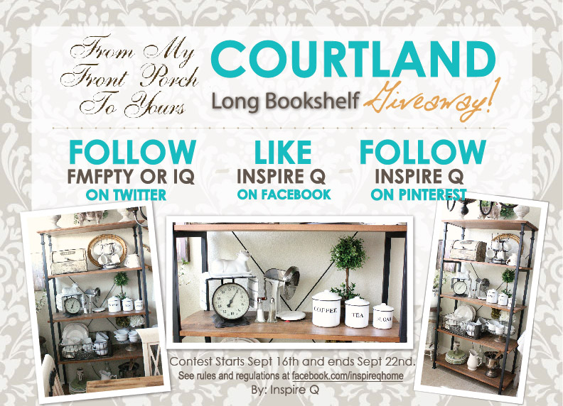 From My Front Porch To Yours- Courtland Bookshelf Giveaway