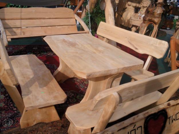 Actividades escolares bancos rusticos de madera muy for Mesa y banco de jardin