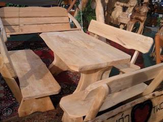 Actividades escolares bancos rusticos de madera muy for Balancin madera jardin