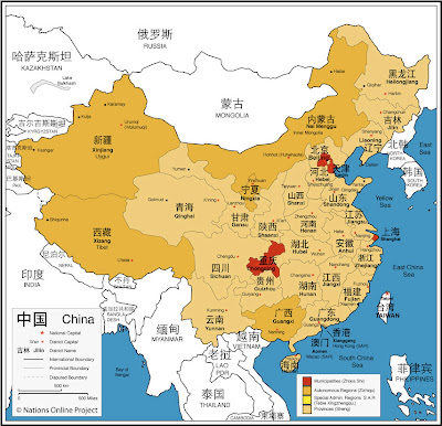 Map of China Country World