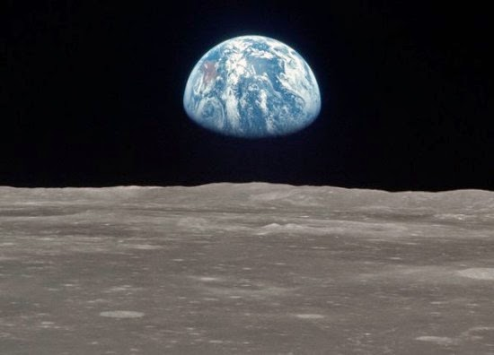 Vista of the earth from the moon NASA space program landing controversy science astronomy space astronauts apollo