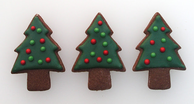 Christmas Tree Cookies at The Ginger Cookie