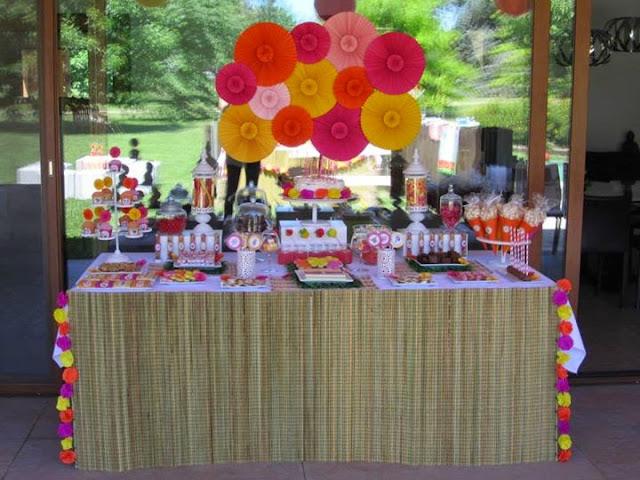 Decoraci n de fiestas exteriores estilo vintage en color - Ideas para fiestas de cumpleanos adultos ...
