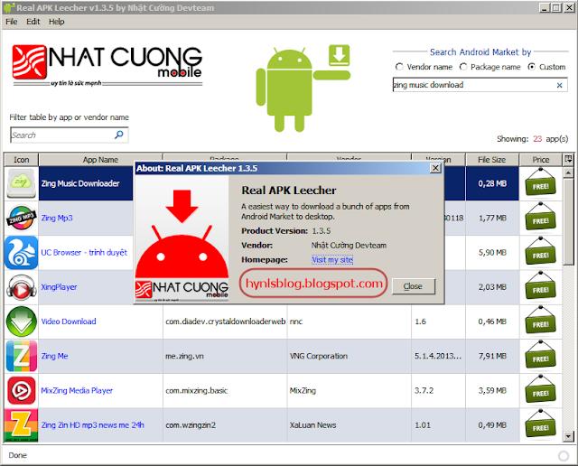 Tải ứng dụng từ Google Play bằng máy tính với Real APK Leecher - Hynls Blog