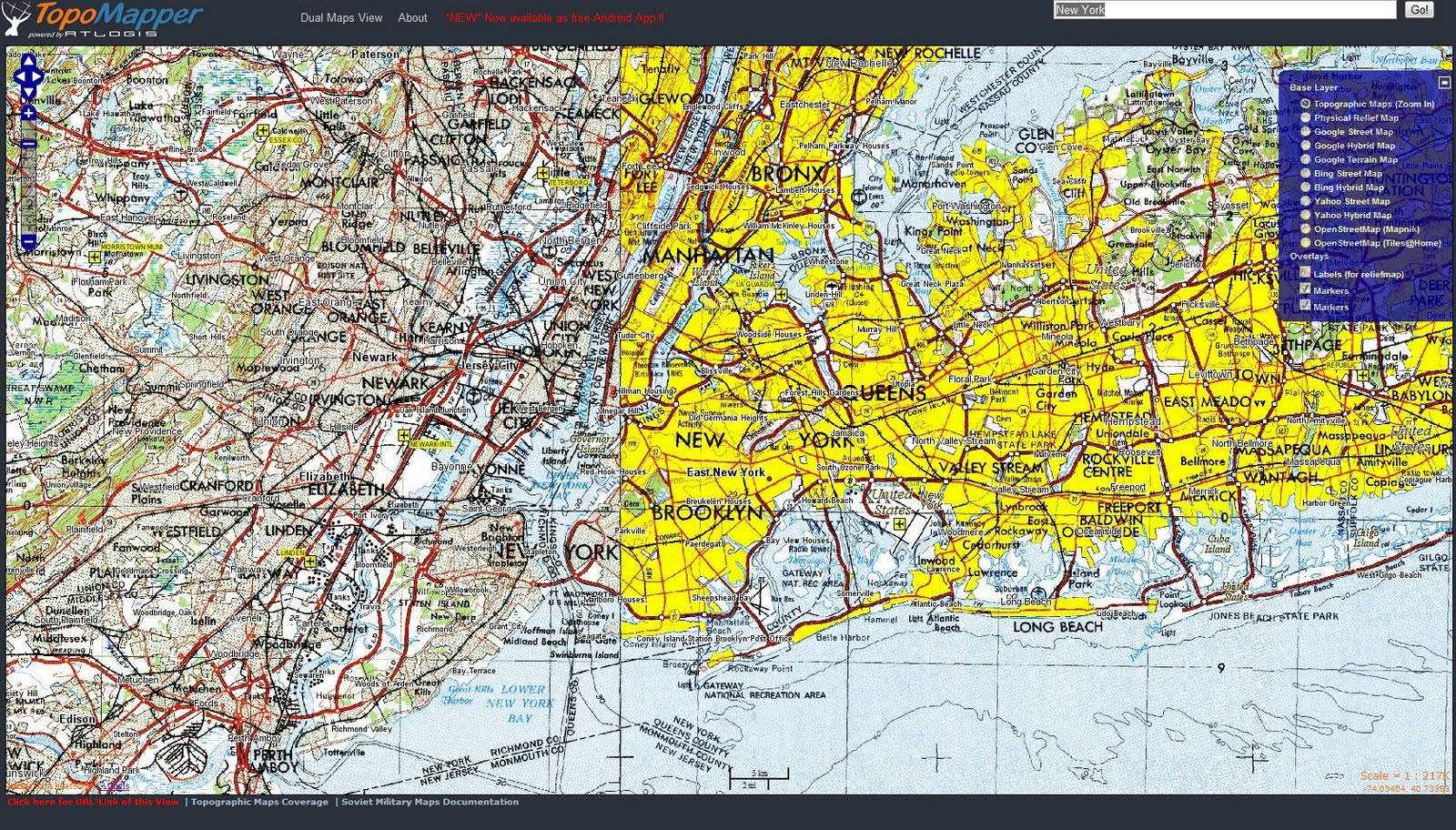 Topographische Landkarten Historische Landkarten