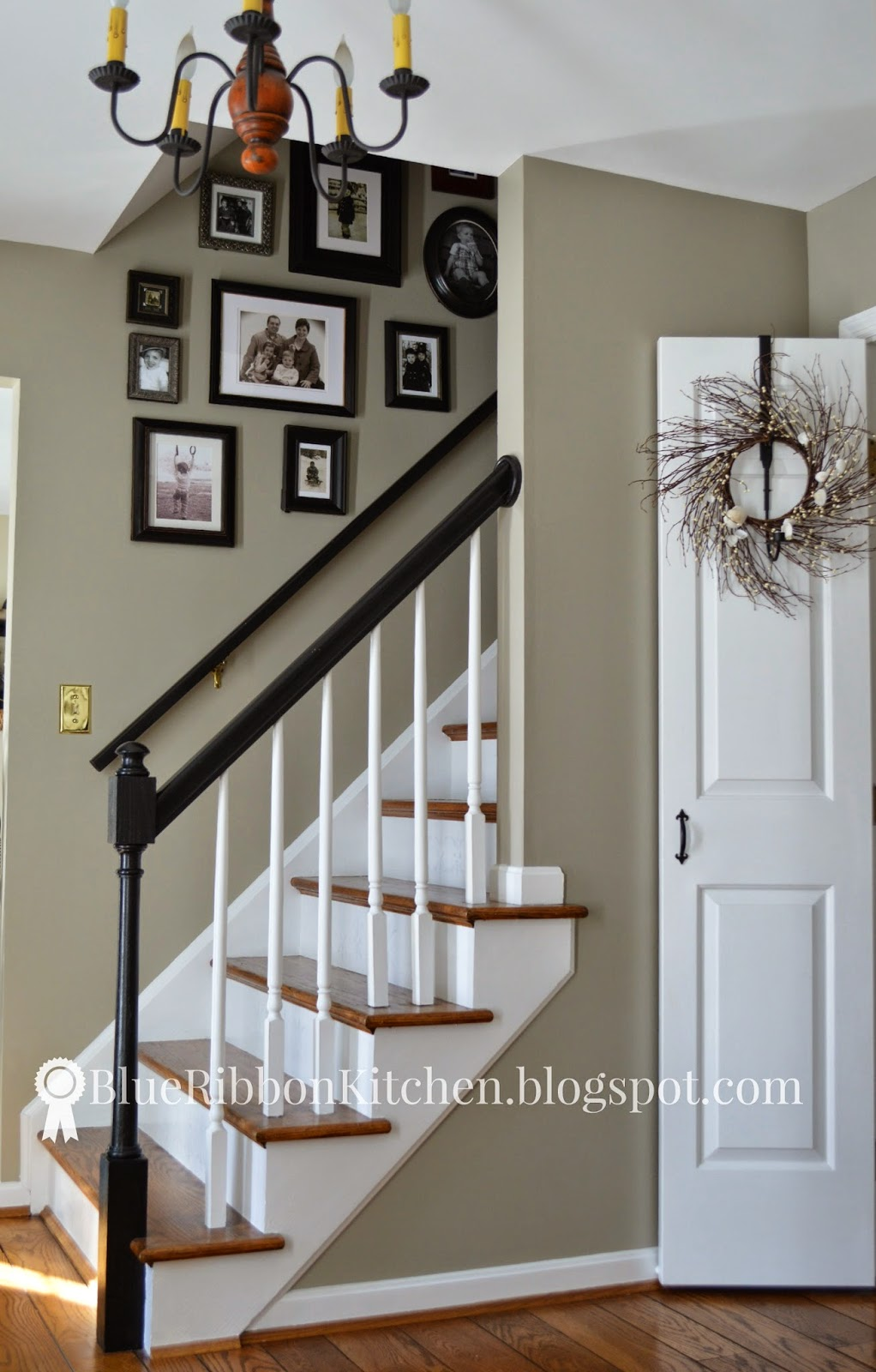 Blue ribbon kitchen 50 shades of gray paint for Foyer paint color decorating ideas
