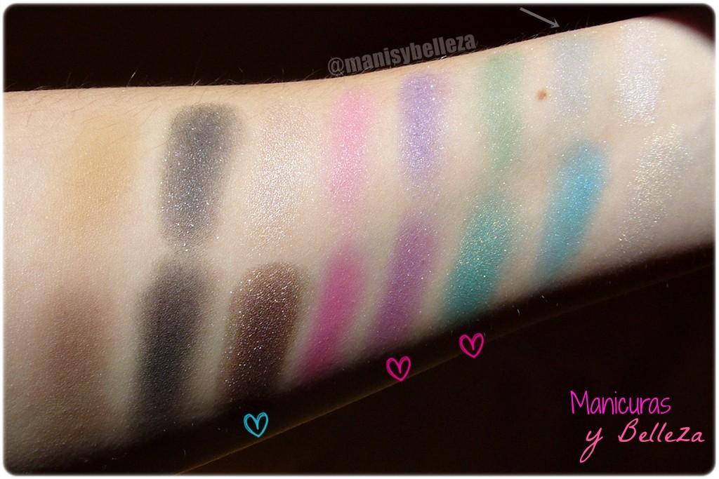 Paleta de sombras de ojos y cejas Awesome - Sticks & Stones de MakeUp Revolution   Awesome Eyeshadow and Eyebrow Palette (Maquillalia) Swatches
