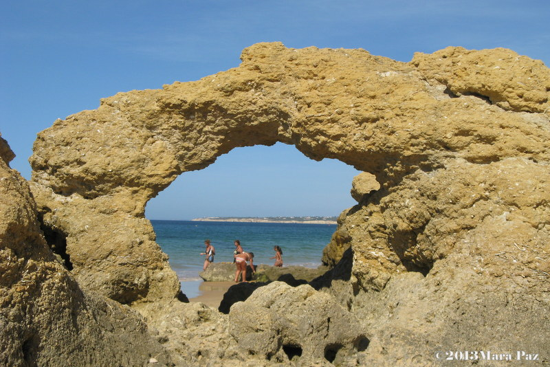 "Galé Beach, ""rocky window"""
