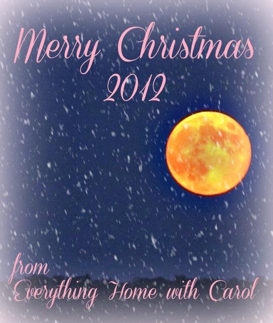 christmas card, everything home with carol