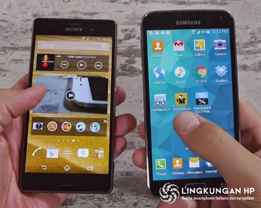Perbandingan Sony Xperia Z3 VS Samsung Galaxy S5