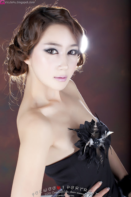 1 Han Chae Yee - Gorgeous Black-very cute asian girl-girlcute4u.blogspot.com