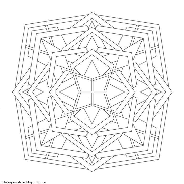Coloring Mandalas 33 Mirrors