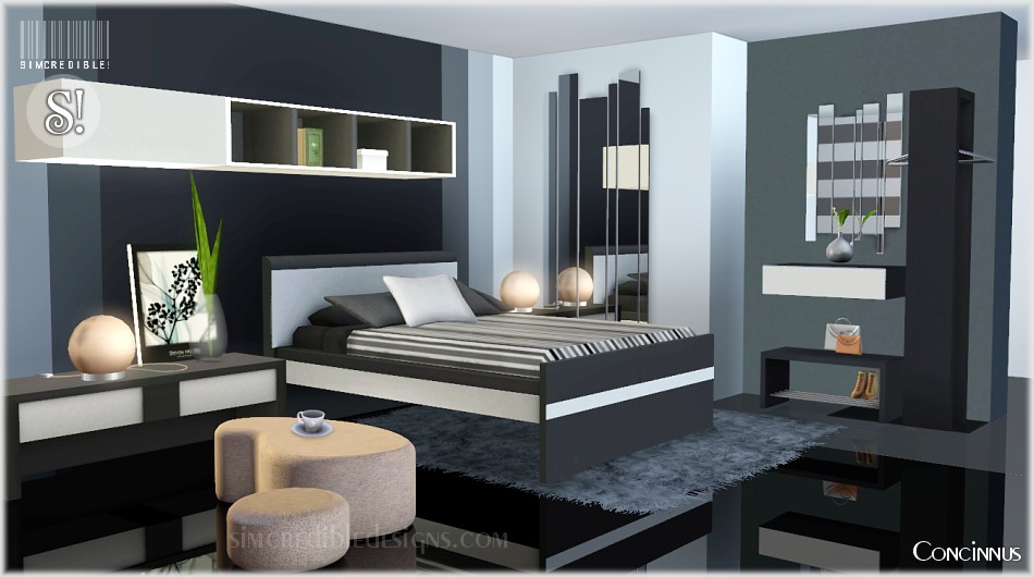 My sims 3 blog concinnus bedroom set by simcredible designs for Bedroom designs sims 4