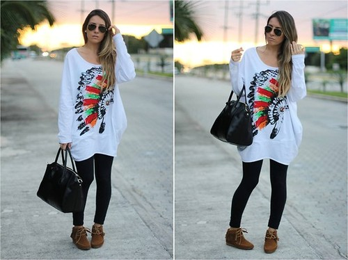 Oversized Romwe tee blog