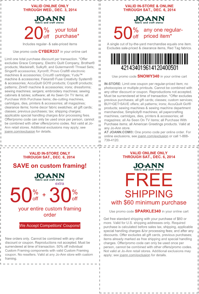 Joann fabrics framing coupons : Cheez it coupons april 2018