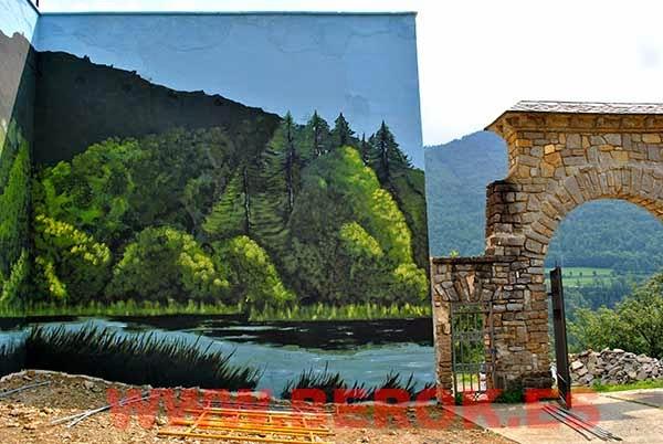Murales de paisajes en Girona