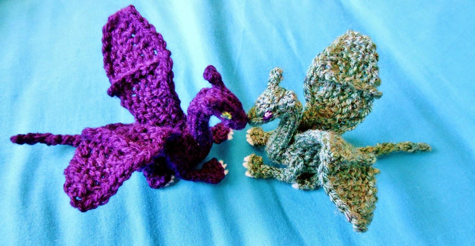 Small Dragon Knitting Pattern : Crafty Mutt: Baby Dragon Palm Pal Knit+Crochet Pattern