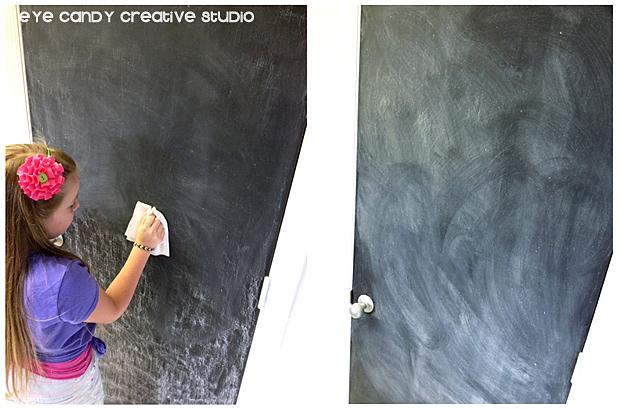 seasoning a chalkboard project, seasoned chalkboard door, pantry door