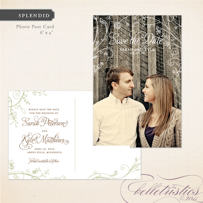 spring floral green wedding save the date design printable diy